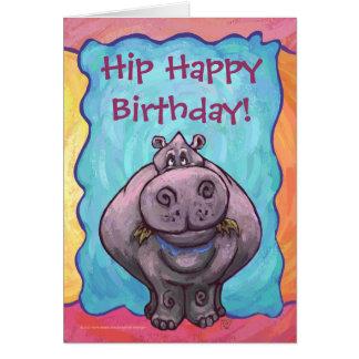 Hip Happy Hippopotamus Birthday Card