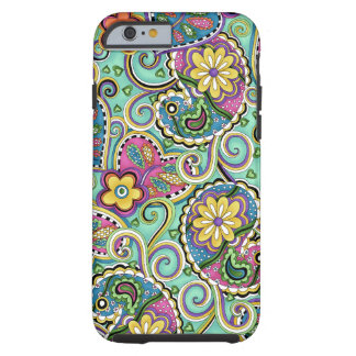 Hip Happy Paisley Teal iPhone 6 case