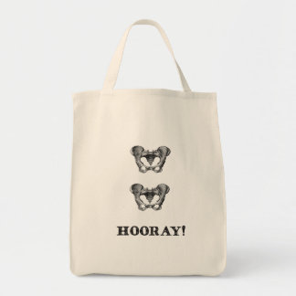 Hip Hip Hooray Anatomy Humor Tote