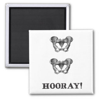 Hip Hip Hooray Anatomy Message Magnet