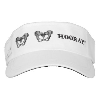 Hip Hip Hooray Anatomy Message Visor