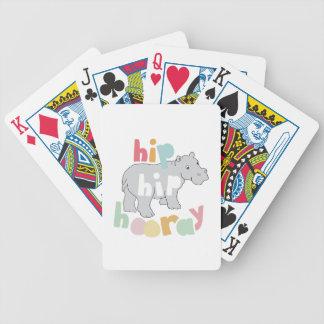 Hip Hip Hooray Bicycle Playing Cards