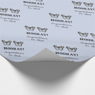 Hip Hip Hooray Personalised Anatomy Message Wrapping Paper