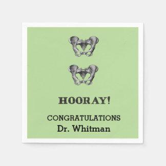 Hip Hip Hooray Personalized Graduation Napkin Disposable Napkin