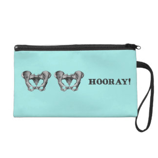 Hip Hip Hooray Personalized Wristlet