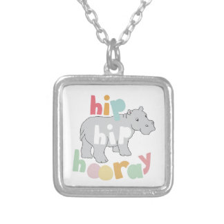 Hip Hip Hooray Silver Plated Necklace