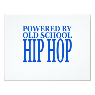 HIP HOP 11 CM X 14 CM INVITATION CARD