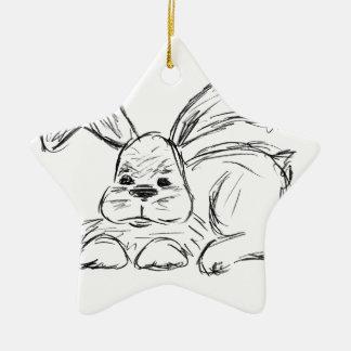 Hip Hop, A Bunny Rabbit Ceramic Star Decoration