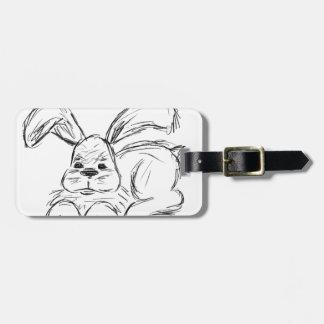 Hip Hop, A Bunny Rabbit Luggage Tag