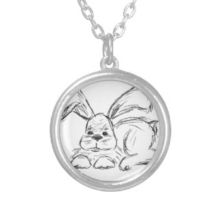 Hip Hop, A Bunny Rabbit Silver Plated Necklace