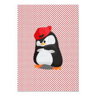 Hip Hop Angry Penguin 9 Cm X 13 Cm Invitation Card