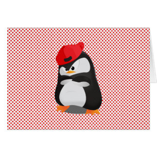 Hip Hop Angry Penguin Greeting Card