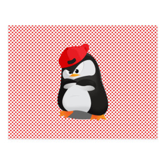 Hip Hop Angry Penguin Post Card