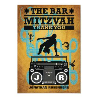Hip Hop Bar Mitzvah Thank You Card 13 Cm X 18 Cm Invitation Card