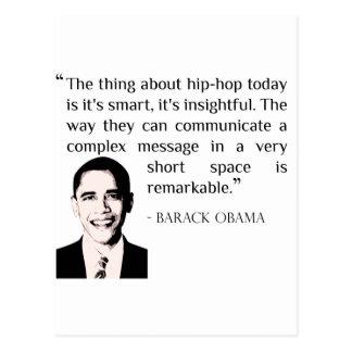 hip-hop Barack Obama quote postcard