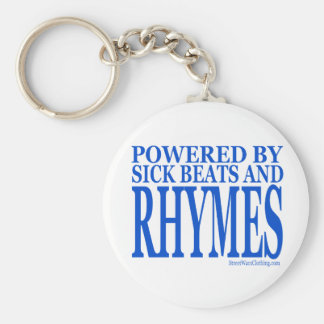 HIP HOP BASIC ROUND BUTTON KEY RING
