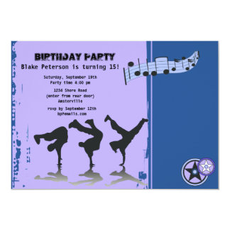 Hip Hop Boys Invitation