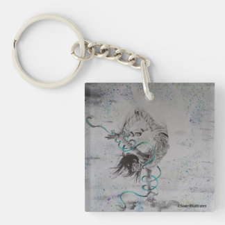 Hip-Hop Breakdancer Keychain