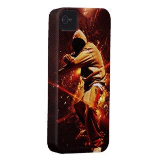 hip-hop breakdancer on fire iPhone 4 case