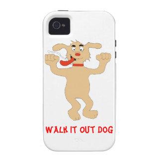 Hip Hop Cartoon Dancing Dog iPhone 4 Cases