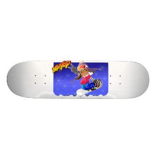Hip Hop Cartoon Girl on Snowboard 20.6 Cm Skateboard Deck