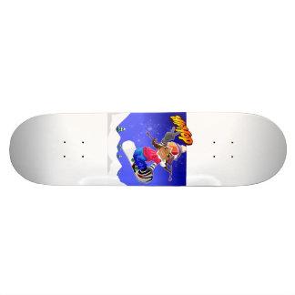 Hip Hop Cartoon Girl on Snowboard 21.6 Cm Skateboard Deck