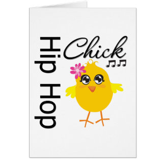 Hip Hop Chick Greeting Card