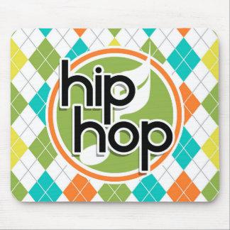 Hip Hop; Colorful Argyle Pattern Mouse Pad