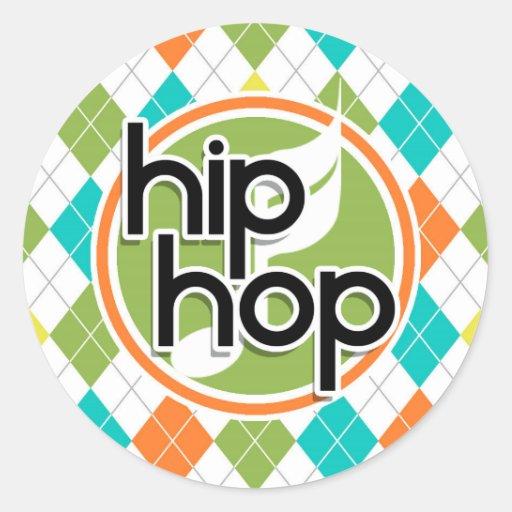 Hip Hop; Colorful Argyle Pattern Sticker