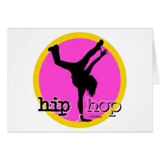 HIP HOP Dance moves Greeting Card