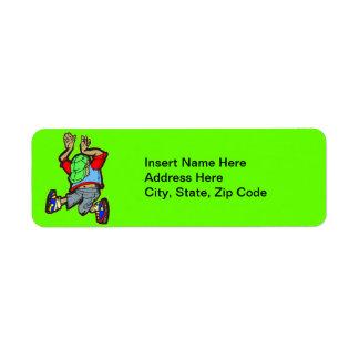 Hip Hop Dance Return Address Label