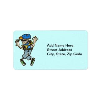 Hip Hop Dancer Address Label