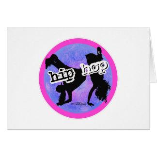 HIP HOP Dancer Greeting Card