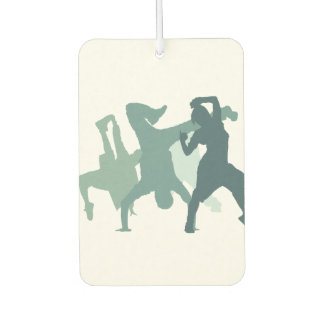Hip Hop Dancers Illustration Car Air Freshener