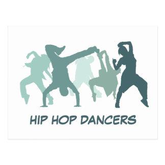 Hip Hop Dancers Illustration Postcard