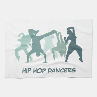 Hip Hop Dancers Illustration Tea Towel