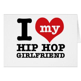 Hip Hop dancing Girlfriend designs Greeting Card