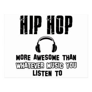 hip hop design postcard