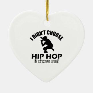 Hip Hop designs Ceramic Heart Decoration