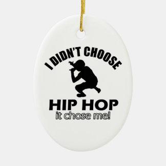 Hip Hop designs Ceramic Oval Decoration