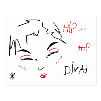 Hip-Hop Diva Postcard