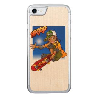 Hip Hop girl skateboard Cartoon Carved iPhone 7 Case