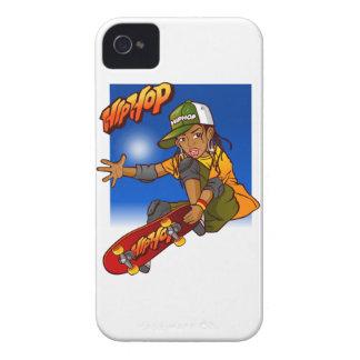 Hip Hop girl skateboard Cartoon iPhone 4 Case