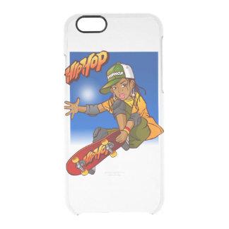 Hip Hop girl skateboard Cartoon Clear iPhone 6/6S Case