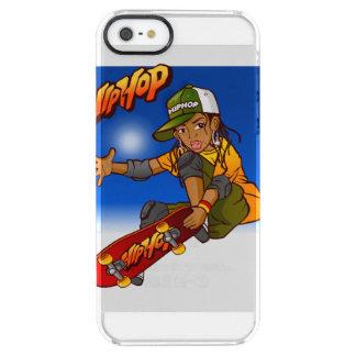 Hip Hop girl skateboard Cartoon Clear iPhone SE/5/5s Case