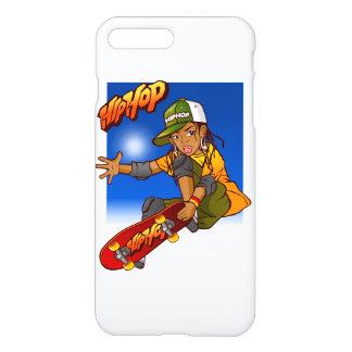 Hip Hop girl skateboard Cartoon iPhone 7 Plus Case