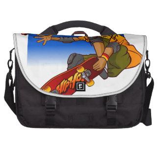 Hip Hop girl skateboard Cartoon Commuter Bag