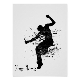 Hip Hop Graffiti Dancer Personalized Poster