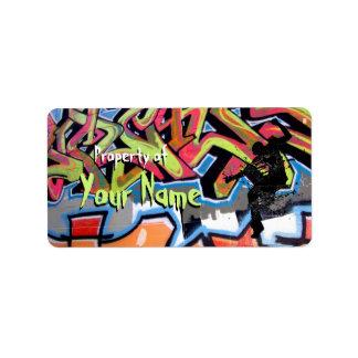 Hip Hop Graffiti Personalized Property Of Address Label