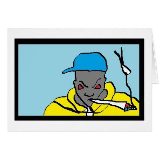 Hip hop head greeting card